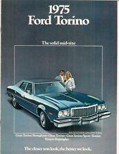 FORD Torino 1975 USA delle vendite sul mercato BROCHURE GRAN SPORT Brougham CARRO