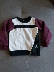Nike Air Jordan Long Sleeve Sweater Maroon Size 4 XS 3-4yrs