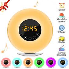 Sunrise Digital Alarm Clock Radio Relax Natural Sounds 6 Color Wake Up Light BP