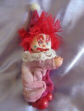 Vintage 1980s Retro Hugger Gripper Clip On Toy. Clown. Circus.