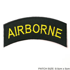 AIRBORNE - US ARMY Rocker Patch Embroidered Iron-On Patch - NEW #6M12