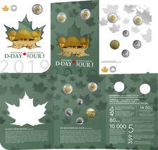 2019 D-Day Juno Beach 75th Anniversary Normandy Campaign 6-Coins Set Canada R&D