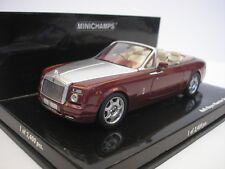 Roll Royce Phantom Drophead Coupé 2007 rouge métallique 1/43 Minichamps