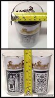 Anchor Hocking - American Gothic Amish Butterprint - Glass Tumblers -Set of 3
