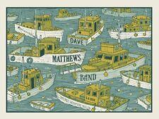 Dave Matthews Band Poster 2014 Bangor Maine Signed & Numbered #/630 Rare!!!