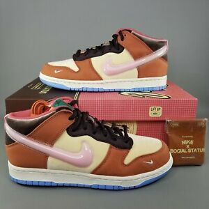 Nike Dunk Mid x Social Status Free Lunch Shoes Mens Size 8.5 Sneaker DJ1173-700