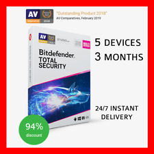 BitDefender Total Security 2020 ⭐ 5 Devices   3 Months ⭐ INSTANT DELIVERY 24/7