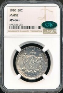 1920 Maine Commemorative Half Dollar NGC MS 66+ *CAC Approved!*