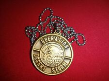 OPERATION DESERT STORM Metal Badge With Ball Chain *Never Worn*
