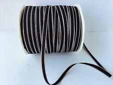 """1/8"""" Solid Ribbon - May Arts - 340-33 - Brown/Ivory- 5 Yds."""
