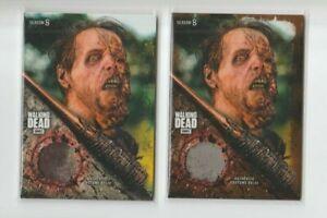 Walking Dead Season 8 Part 1 Walker Relic Wardrobe Card WR-5 & WR-5 40/50 Lot