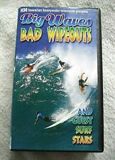 1998 Surfing Vhs Video: Big Waves Bad Wipeouts and Guest Surf Stars-Kelly Slater