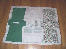 Vintage Christmas Wonderland Angel Cotton Fabric Panel