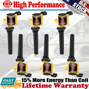 6 Pack Ignition Coil Set For Ford Mazda Tribute Escape Mercury 2001-2009 V6 3.0L