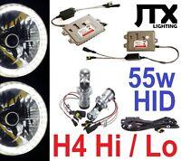 """WHITE 7"""" Halo Lights & 55w HID Kit for Toyota Landcruiser 75 78 79 HZJ75 series"""