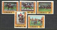 1977 LIBERIA Sc # 784-787 COMPLETE { OLYMPICS EQUESTRIAN } IMPERFORATE SET  MNH