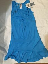 Adidas Womens S Tennis Athletic Dress Blue Clima 365 Ana Small Cyan
