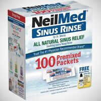 NeilMed Sinus Rinse - All Natural Relief - Premixed Refill Packets - 100ct