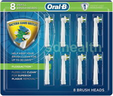 (8-Pk) Oral-B Power Toothbrush Replacement Brush Heads Refill FlossAction