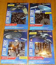 Star Trek Set of 4 Metal Earth 3D Laser cut model kits Enterprise, Vor'Cha, Bird