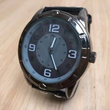 Stunning FMD Mens Japan Movt All Black Analog Quartz Watch Hours~New Battery