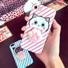 Cute 3D Kitty Cat Paw Soft Squishy Doll Phone Case Cover for iPhone 6 6S