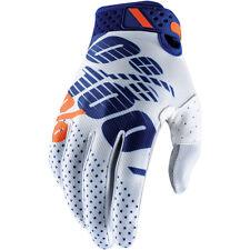 100% Men's Ridefit MX Gloves for Motocross Dirt Bike - Choose Size & Color