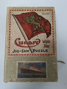 Vintage 30s/40s Cunard White Star Chad Valley Queen Mary Jigsaw Puzzle 200 pcs
