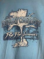 2007 Kenny Chesney Flip Flop Summer Tour Light Blue Shirt