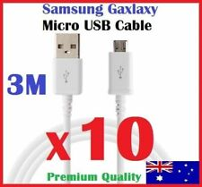 10X 3M Micro USB Data Charger Cable for SAMSUNG GALAXY S3 S4 S5 S6 S7 Note HTC