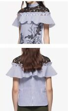 Self-portrait Cutwork Embroidery Frill Shirt size 8
