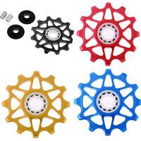 12T Bike Ceramic Bearing Jockey Wheel Pulley Bicycle Rear Derailleur Wheels