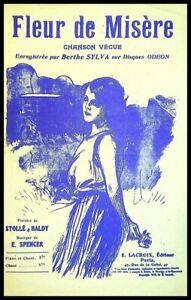 Ancienne Partition, FLEUR de MISERE - E. Spencer  - Ed. Lacroix