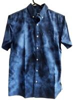 Rip Curl Mens S ISLAND SHORT SLEEVE Cotton Casual Shirts New - Blue Rrp $69.99