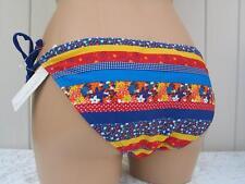 Femmes Taille 8 10 12 16 Bleu /& Orange Couleur Bloc Bas De Bikini Slips