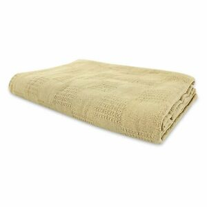 JMR White  Hospital/Home Thermal Blanket Snagfree 100% Cotton Coach Throw or...