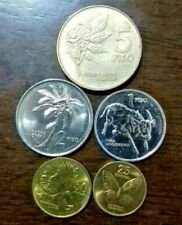Philippine old coin improve flora and fauna uncirculated set of 5 1991-1998