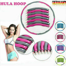 8 Teile Hula Hoop Reifen Fitness Schaumstoff 1.2KG Bauchtrainer Fitnesstraining
