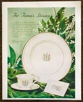 1948 Syracuse China Print Ad For Today's Dining Governor Clinton Pattern