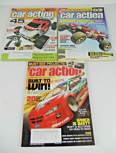 Lot of 3 Radio Control Car Action Magazines 2007 Jul - Sep