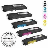 5PK Toner Cartridge for Dell C2660dn C2665dn 593-BBBU 593-BBBT 593-BBBS 593-BBBR