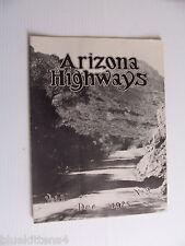 1925 DECEMBER ARIZONA HIGHWAYS MAGAZINE