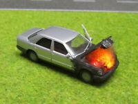 1:87 Mercedes 300 E H0 Motorbrand LED 12V Feuer Laser Cut Patina Einzelstück #15