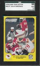 PERFECT ACTION SGC GEM MINT 10 CARD 1978 FLEER #25 RAMS GEORGE ALLEN GRADED *ABC