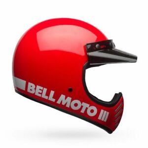 Bell Moto-3 Helmet DOT Mens Womens Motorcycle Street Bike Full Face Retro Harley