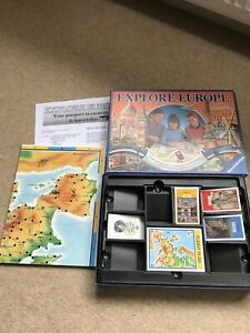 RAVENSBURGER EXPLORE EUROPE BOARD GAME  *COMPLETE WITH INSTRUCTIONS
