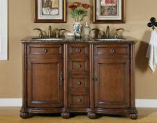 """52"""" Bathroom Lavatory Double Sink Vanity Cabinet Baltic Brown Granite Top 180Bb"""