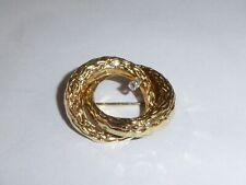 Damen Diamant Brosche 585 Gold 14K Gelbgold Geschenkidee Valentinstag 1867