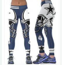 Dallas Cowboys XXL (14/16) #4 Leggings 2X Dak Prescott Football Athletic Blue