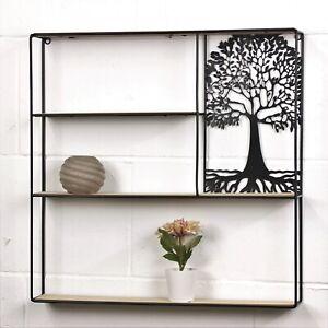Tree of Life Black Storage Shelves Display Free Standing Home Office Shelf Unit